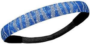 Diamond Duds Royal Silver Zebra Glitter Headbands