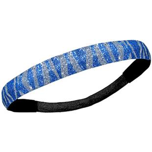 Diamond Duds Royal Silver Zebra Glitter Headbands
