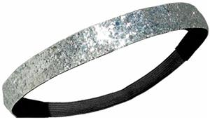 Diamond Duds Silver Glitter Headbands (Set of 10)