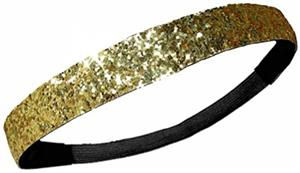 Diamond Duds Gold Glitter Headbands (10)