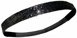Diamond Duds Black Glitter Headbands (10)