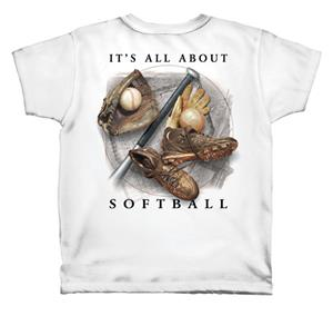 It's All About Softball tshirt