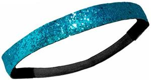 Diamond Duds Teal Glitter Headbands (10)