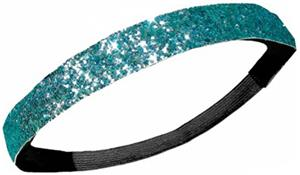 Diamond Duds Light Blue Glitter Headbands (10)