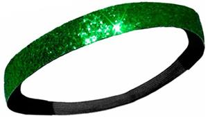 Diamond Duds Green Glitter Headbands (10)