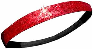 Diamond Duds Red Glitter Headbands (Set of 10)