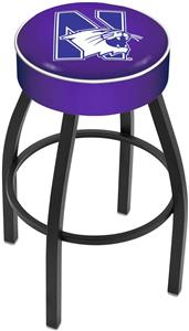 Holland Northwestern University Blk Bar Stool