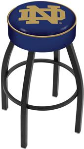 Holland Notre Dame ND Blk Bar Stool