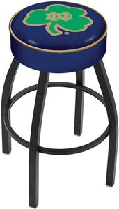 Holland Notre Dame Shamrock Blk Bar Stool