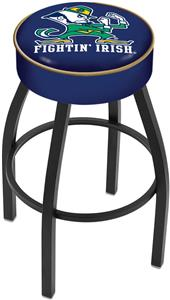 Holland Notre Dame Leprechaun Blk Bar Stool