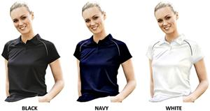 Landway Ladies Tour Striped Sport Polo Shirts