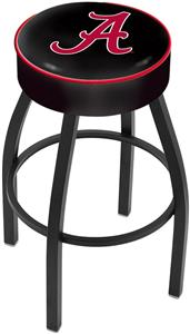 "Holland Univ. of Alabama Script ""A"" Blk Bar Stool"