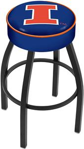 Holland University of Illinois Blk Bar Stool