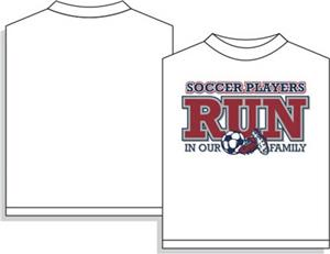Soccer Runs in Our Family soccer tshirt gifts