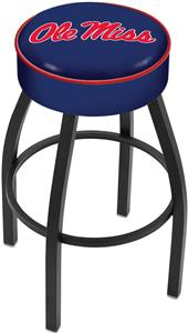 Holland University of Mississippi Blk Bar Stool