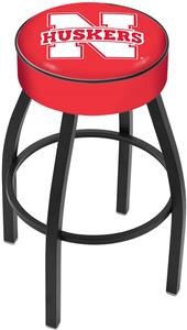 Holland University of Nebraska Blk Bar Stool