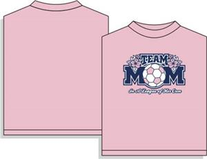 Team Mom pink soccer tshirt gifts