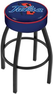 Holland University of Tulsa Blk Bar Stool
