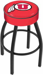 Holland University of Utah Blk Bar Stool