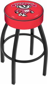 Holland Univ. of Wisconsin Badger Blk Bar Stool