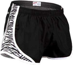 Soffe Girl's Zebra Print Team Shorty Shorts
