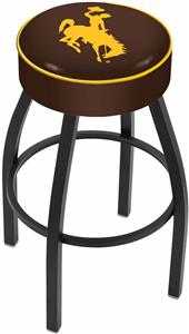 Holland University of Wyoming Blk Bar Stool