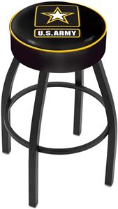 Holland United States Army Blk Bar Stool