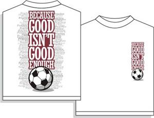 Utopia Soccer Good Enough Short Sleeve Tshirt