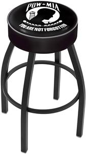 Holland Military POW/MIA Blk Bar Stool