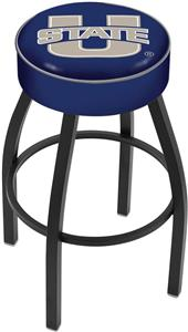 Holland Utah State University Blk Bar Stool