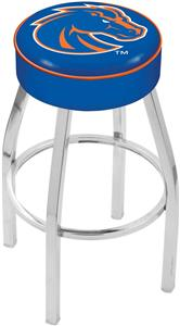 Holland Boise State University Chrome Bar Stool