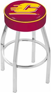 Holland Central Michigan Univ Chrome Bar Stool