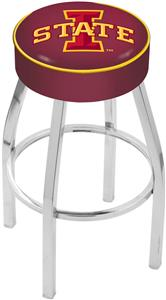 Holland Iowa State University Chrome Bar Stool