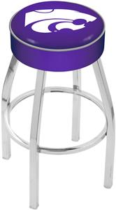 Holland Kansas State University Chrome Bar Stool
