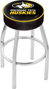 Holland Michigan Tech University Chrome Bar Stool
