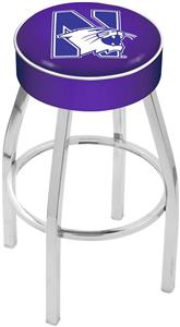 Holland Northwestern University Chrome Bar Stool