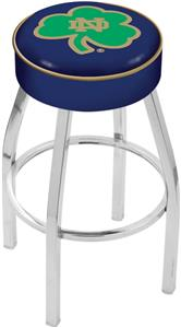 Holland Notre Dame Shamrock Chrome Bar Stool