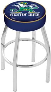 Holland Notre Dame Leprechaun Chrome Bar Stool