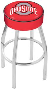 Holland Ohio State University Chrome Bar Stool