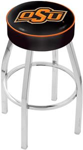 Holland Oklahoma State University Chrome Bar Stool