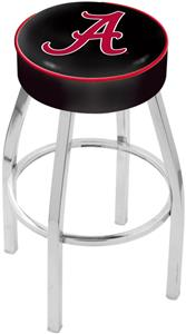 Holland Univ Alabama Script A Chrome Bar Stool