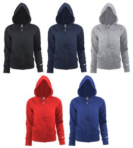 Soffe Girls' Rugby Full Zip Hoodies