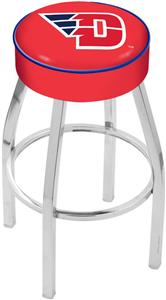 Holland University of Dayton Chrome Bar Stool