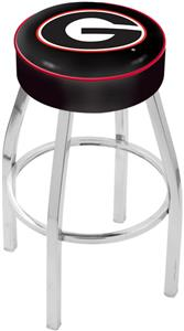 Holland Univ of Georgia G Chrome Bar Stool
