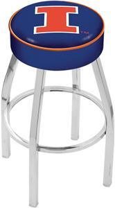 Holland University of Illinois Chrome Bar Stool