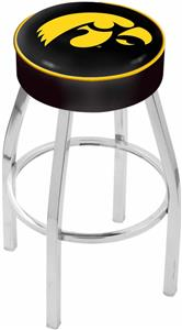 Holland University of Iowa Chrome Bar Stool