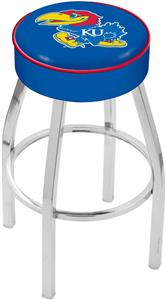Holland University of Kansas Chrome Bar Stool