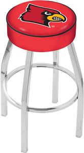 Holland University of Louisville Chrome Bar Stool