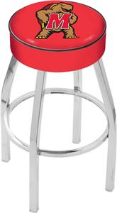 Holland University of Maryland Chrome Bar Stool