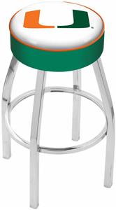 Holland University of Miami (FL) Chrome Bar Stool